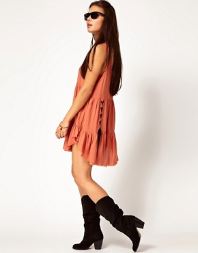Image 4 ofOne Teaspoon Jinki Playsuit with Lace Up Detail