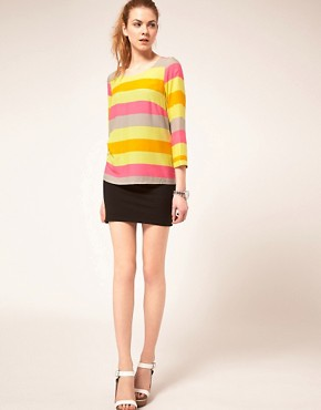 Image 4 ofVila Top In Sorbet Stripes