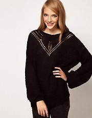 ASOS Jumper With Crochet Neck