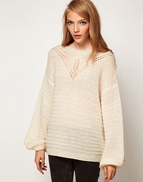 Image 1 ofASOS Jumper With Crochet Neck