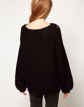 Image 2 ofASOS Jumper With Crochet Neck