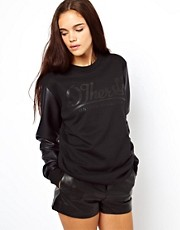 Other UK Sweatshirt With Faux Leather Sleeves