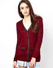 Warehouse  Mod  Tweed-Strickjacke