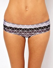 ASOS Printed Deep Hipster Bikini Pant