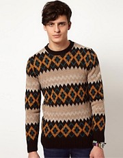 Common Sons Sweater with Alpine Print