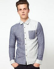 Another Influence Contrast Panel Shirt