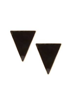 Image 1 ofASOS Triangle Stud Earrings