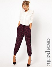 ASOS PETITE Exclusive Trousers In Unicorn Print With Drawstring Waist