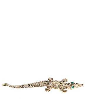 Image 4 ofASOS Articulated Crocodile Bracelet
