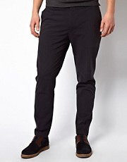 J Lindeberg Slim Trousers In Seersucker