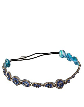 Image 2 ofDeepa Gurnani Sapphire And Crystal Head Band