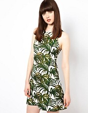 HOUSE OF HACKNEY Exposed Back Dress in Palmeral Print Cotton Jaquard