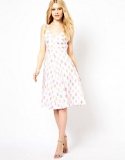 Vestido con estampado de pias de Emily & Fin