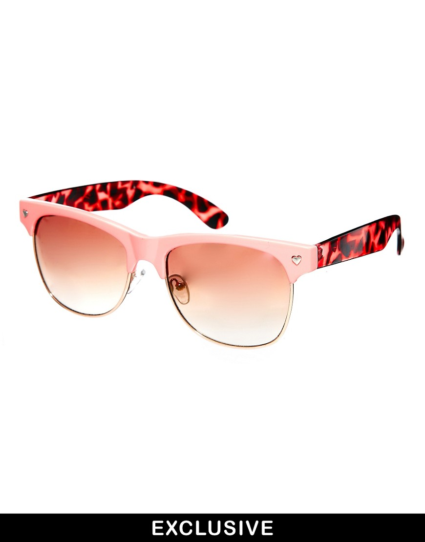 Jeepers Peepers Exclusive to Asos Ashley Sunglasses - Multi