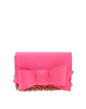 Image 1 ofTed Baker Lomas Satin Bow Clutch