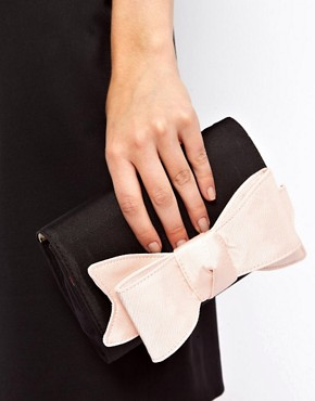 Image 3 ofTed Baker Lomas Satin Bow Clutch