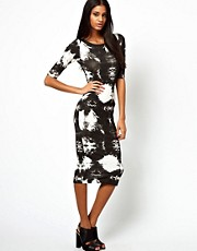 John Zack Midi Dress In Tie Dye