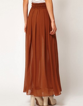 Image 2 ofMango Maxi Skirt With Side Splits