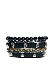 Pulsera de calaveras de River Island