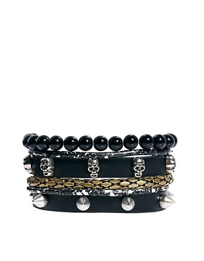 Image 1 ofRiver Island Skull Bracelet