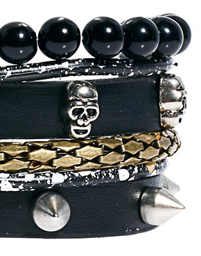 Image 3 ofRiver Island Skull Bracelet