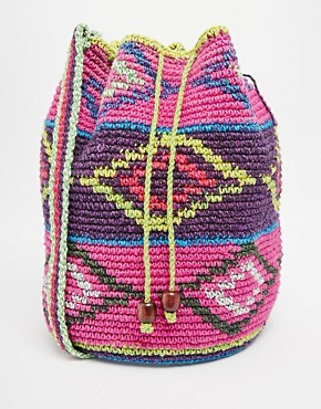 Hiptipico Knitted Across Body Bag in Mixed Print