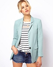 ASOS Premium  Blazer mit schmalem Revers