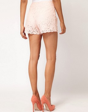 Image 2 ofASOS Lace Short With Scallop Edge