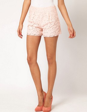 Image 4 ofASOS Lace Short With Scallop Edge