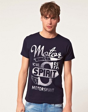 Image 1 ofJack &amp; Jones Intelligence Rider T-Shirt