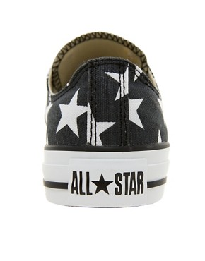 Image 4 ofConverse All Star Black Star Print Ox  Trainers