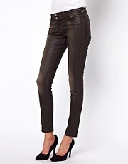 Vivienne Westwood Anglomania For Lee Faux Leather Skinny Jeans