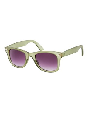 Image 1 ofASOS Matte Green Wayfarer Sunglasses