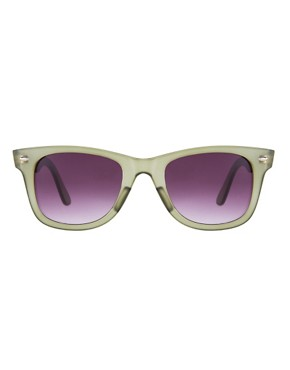 Image 2 ofASOS Matte Green Wayfarer Sunglasses
