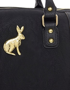 Image 4 ofASOS Tassel Bowler Bag With Rabbit Fitting