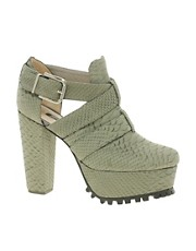 Senso Rene 2 Grey Strap Platform Heeled Shoes