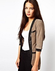 Cote By Improvd Betia Leather Blazer With Cropped Sleeves