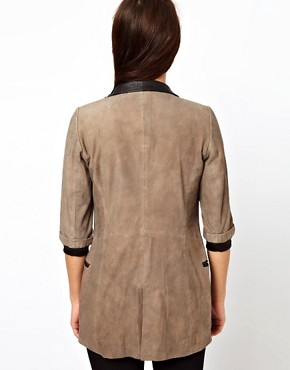 Image 2 ofCote By Improvd Betia Leather Blazer With Cropped Sleeves