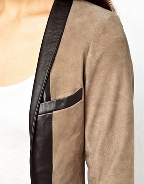 Image 3 ofCote By Improvd Betia Leather Blazer With Cropped Sleeves