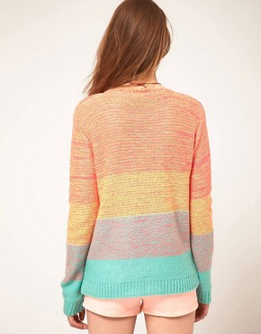 Image 2 ofASOS Jumper In Space Dye Colour Block