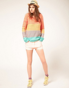 Image 4 ofASOS Jumper In Space Dye Colour Block