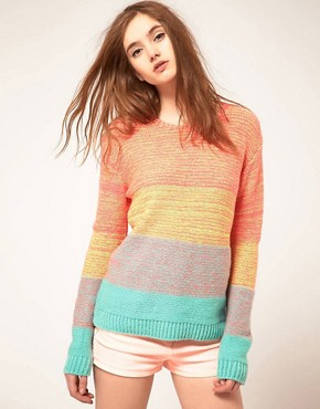Image 1 ofASOS Jumper In Space Dye Colour Block