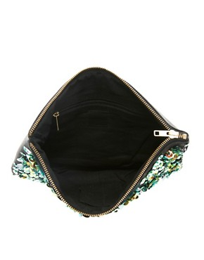 Image 4 ofASOS Beaded Iridescent Clutch