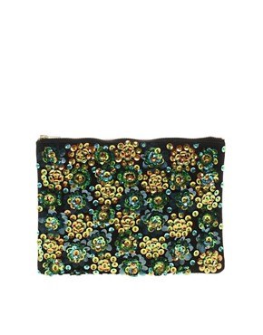 Image 1 ofASOS Beaded Iridescent Clutch
