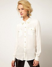 ASOS Western Shirt With Studding