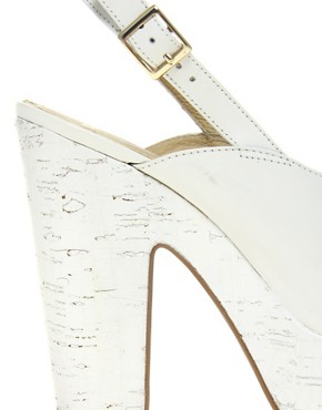 Image 2 ofASOS HEPBURN Leather Platform High Sandals