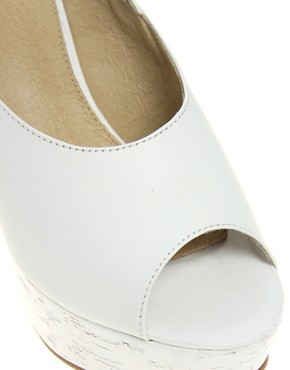 Image 3 ofASOS HEPBURN Leather Platform High Sandals