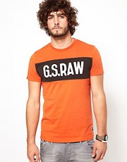 G Star T-Shirt Merckx Logo Chest