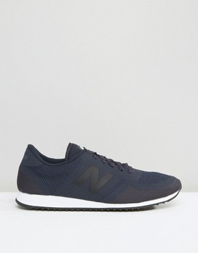 New Balance Navy & White Mesh 420 Trainers