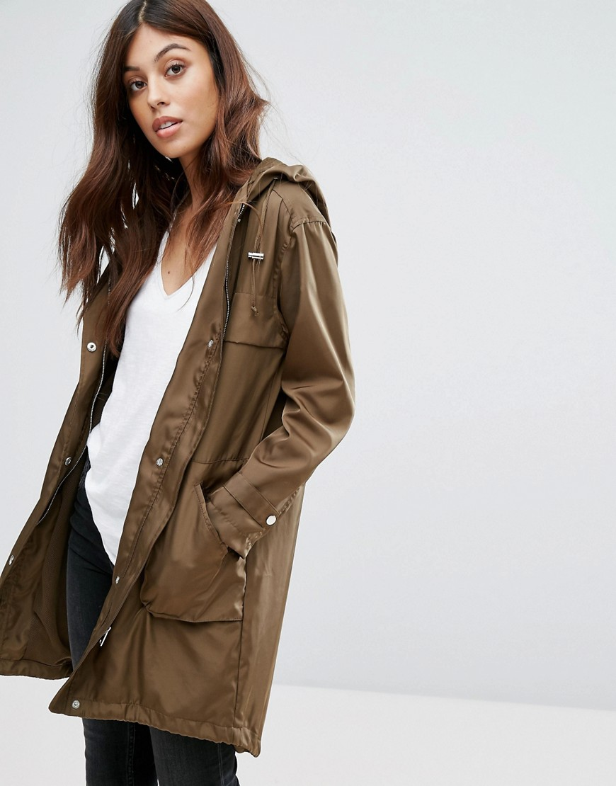 New Look Lightweight Festival Parka - Green